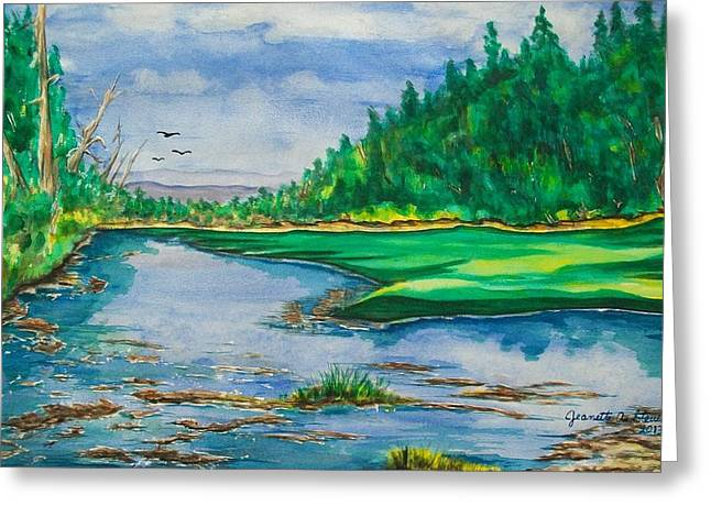 Quiet View Greeting Card by Jeanette Stewart