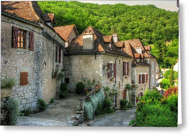 Quiet Village Life Greeting Card by Douglas J Fisher