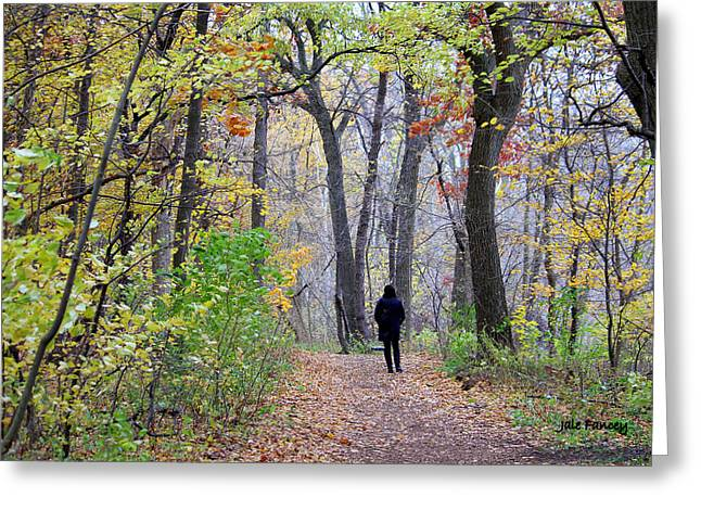 Quiet Walk In The Woods Greeting Card