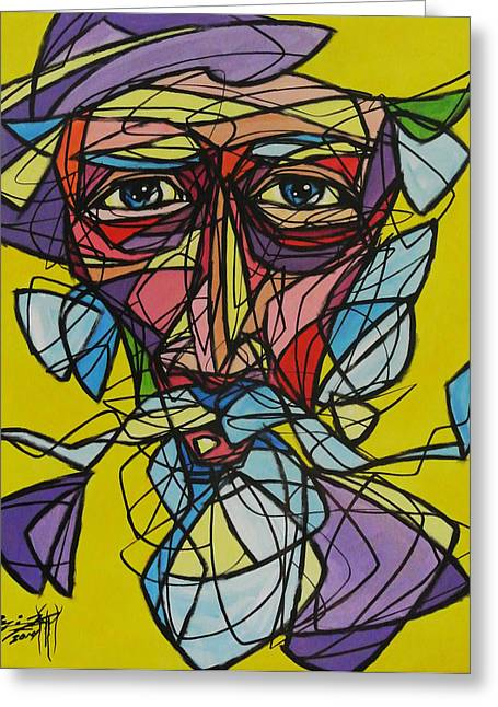 Quijote Fragmentado Greeting Card by Onix