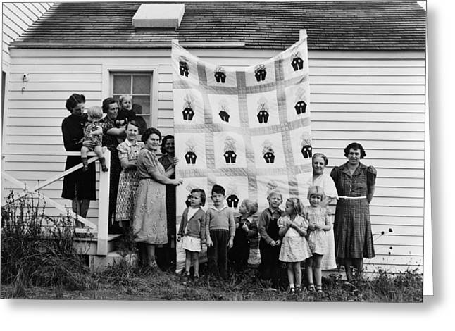 Quilt Makers, 1939 Greeting Card by Granger