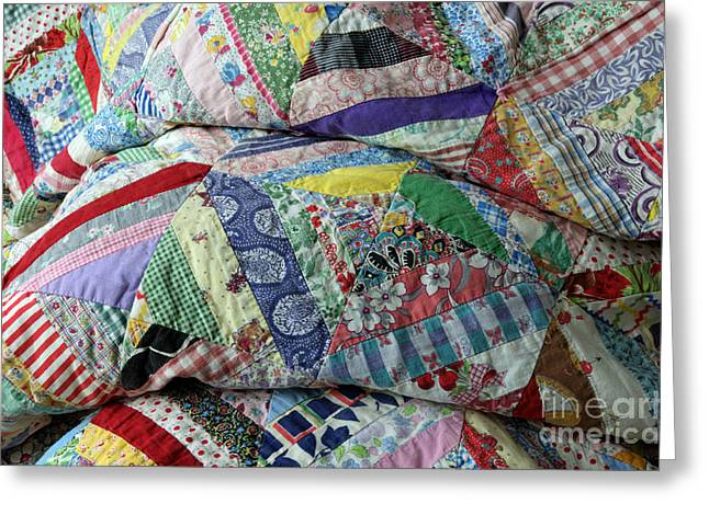 Quilt Of Many Colors Greeting Card