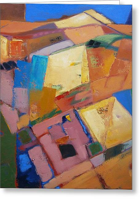 Quiltscape Revised Greeting Card by Gary Coleman