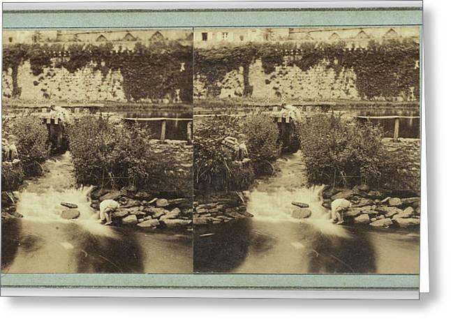 Quimper Finistère, Aux Pieds Murs De La Cathédrale Greeting Card by Artokoloro