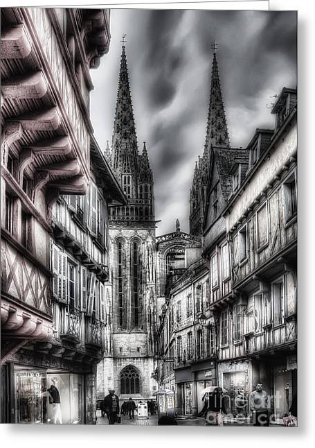 Quimper France Greeting Card by Colin Woods
