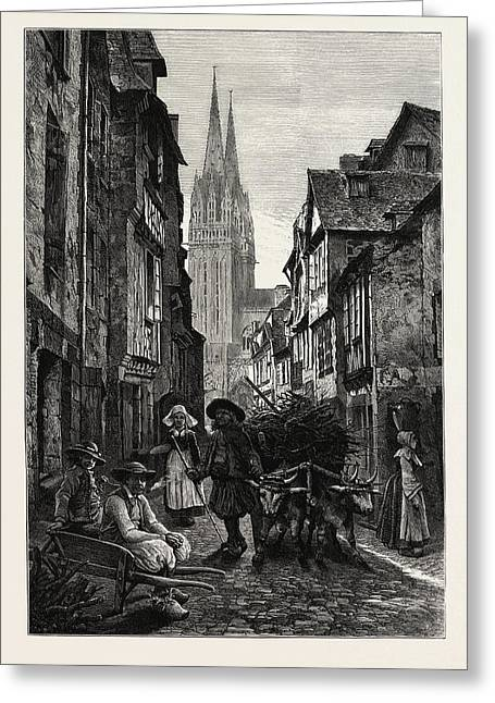 Quimper, Normandy And Brittany, France Greeting Card by French School