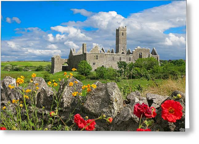 Quin Abbey Greeting Card by Sid Webb