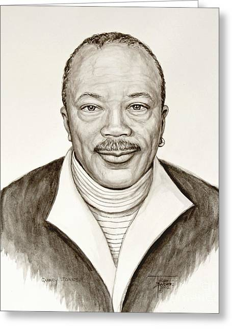 Quincy Jones Greeting Card