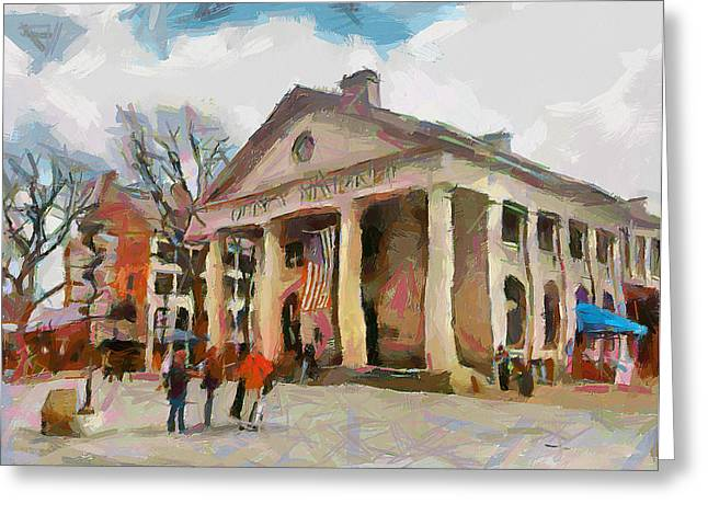 Quincy Market In Boston 2 Greeting Card by Yury Malkov