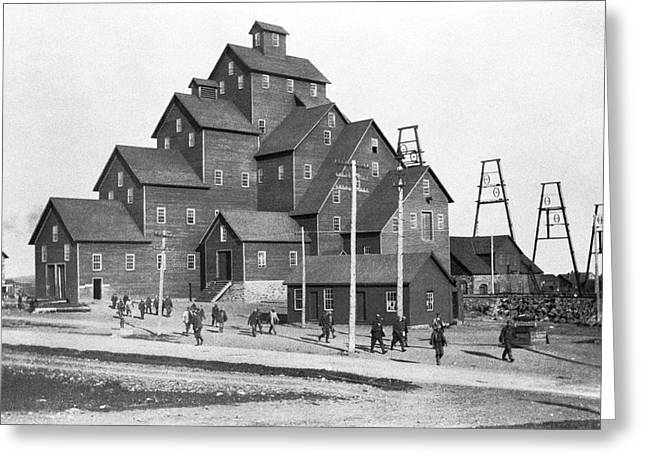 Quincy Mine No. 2 Shaft House Greeting Card by Underwood Archives