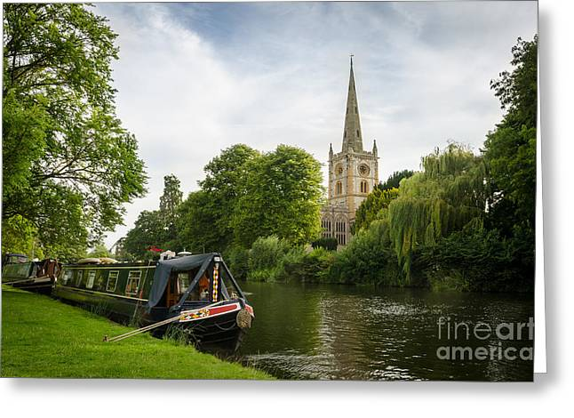 Quintessential English Countryside At Stratford-upon-avon Greeting Card by OUAP Photography