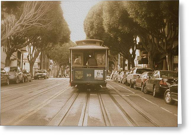 Quintessential San Francisco Greeting Card by Kandy Hurley
