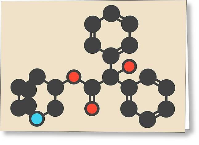 Quinuclidinyl Benzilate Molecule Greeting Card by Molekuul
