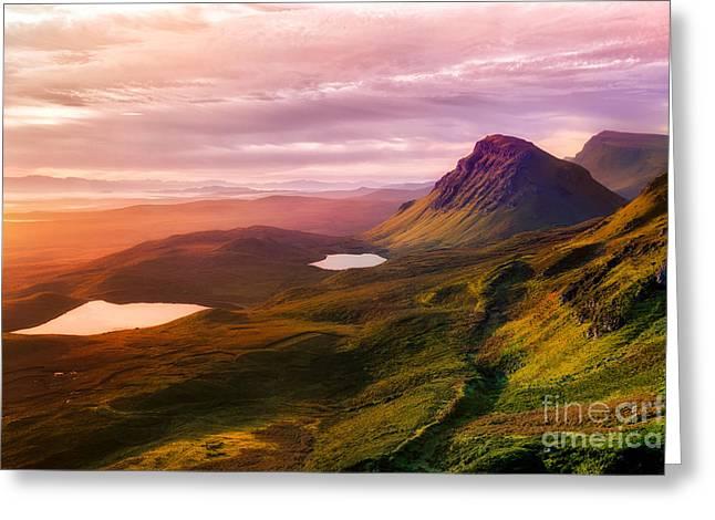 Quiraing - Isle Of Skye Greeting Card by Matt  Trimble