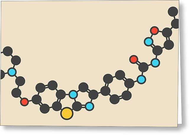 Quizartinib Drug Molecule Greeting Card by Molekuul