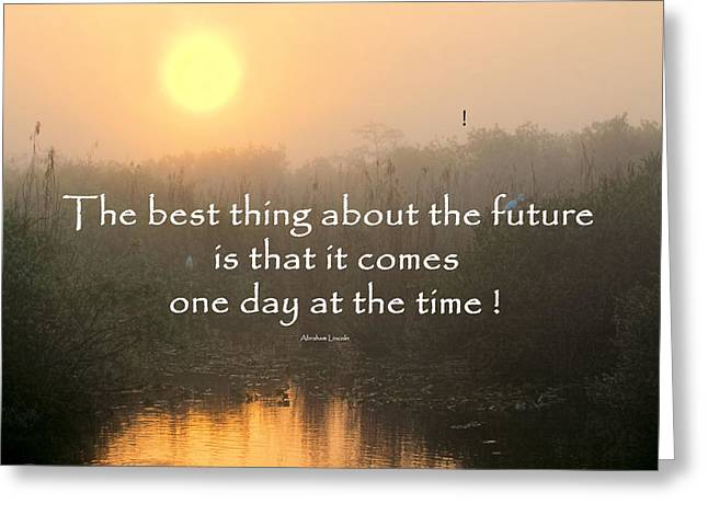 Quote On Sunrise-2 Greeting Card by Rudy Umans