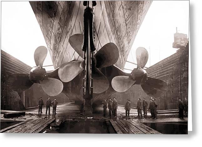 R M S Titanic Props  1911 Greeting Card
