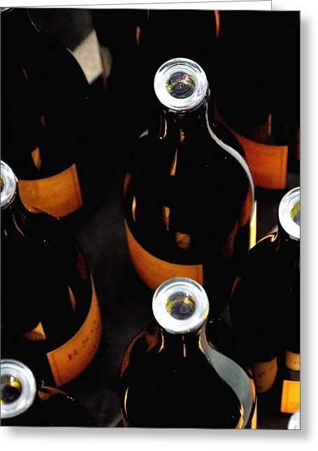 R Stuart Bottles 21152 Greeting Card by Jerry Sodorff