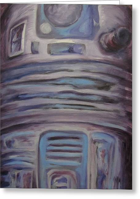 R2 Abstract Greeting Card by Howard Perry