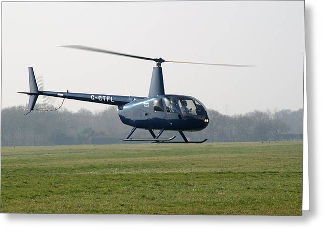 R44 Raven Helicopter Greeting Card