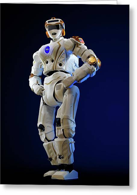 R5 Humanoid Robot Greeting Card by Nasa