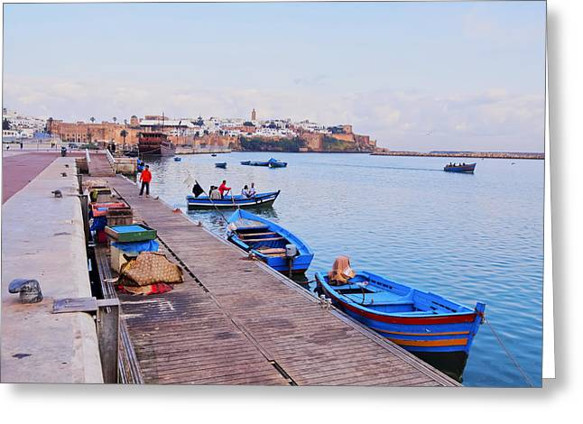 Rabat Cityscape In Morocco Greeting Card