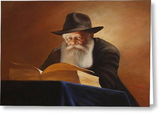 Rabbi Greeting Card by Felix Freudzon