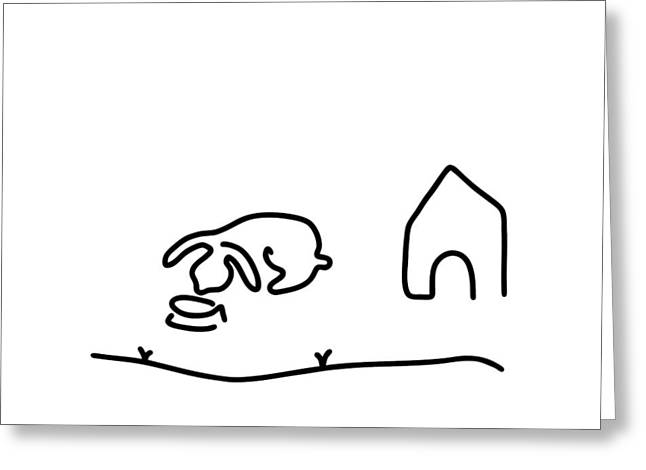 Rabbit Hare Domestic Animal Greeting Card