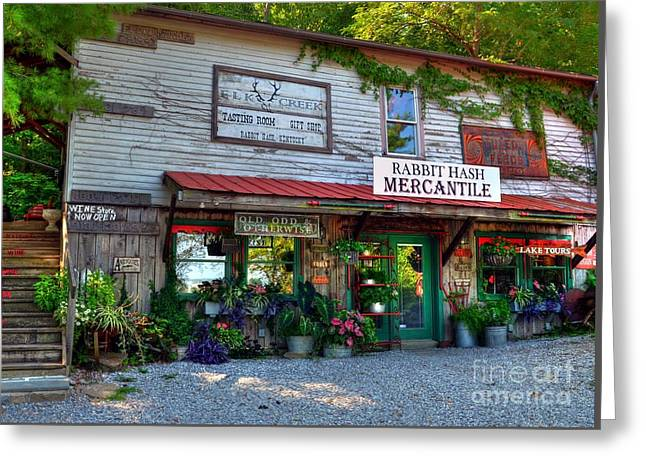Rabbit Hash Mercantile Greeting Card by Mel Steinhauer
