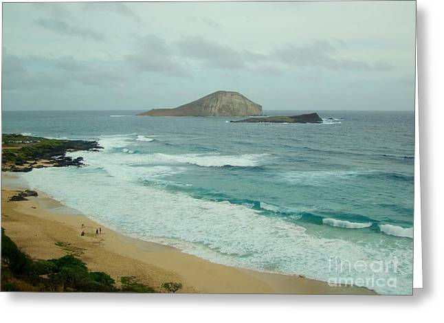 Rabbit Island - Oahu Greeting Card