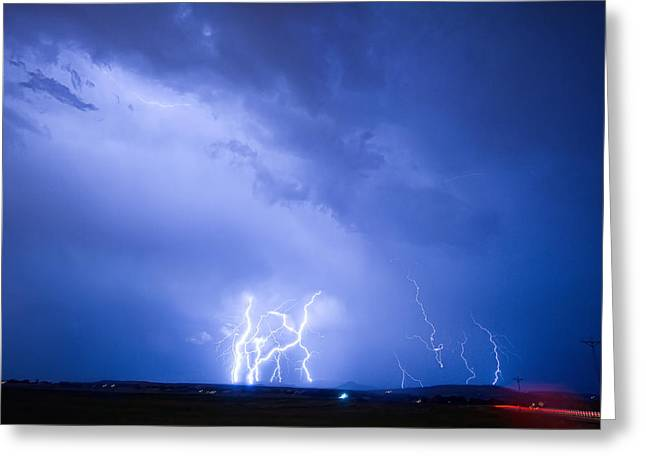 Rabbit Mountain Lightning Strikes Boulder County Co Greeting Card by James BO  Insogna