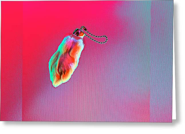 Rabbit's Foot Charm Greeting Card by Yo Pedro