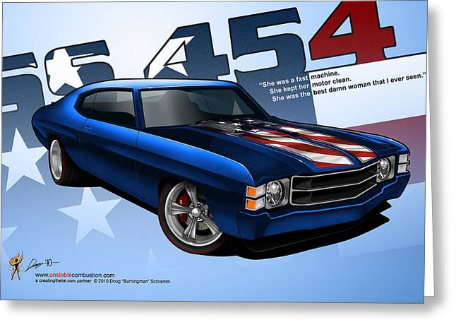Race Chevelle Greeting Card