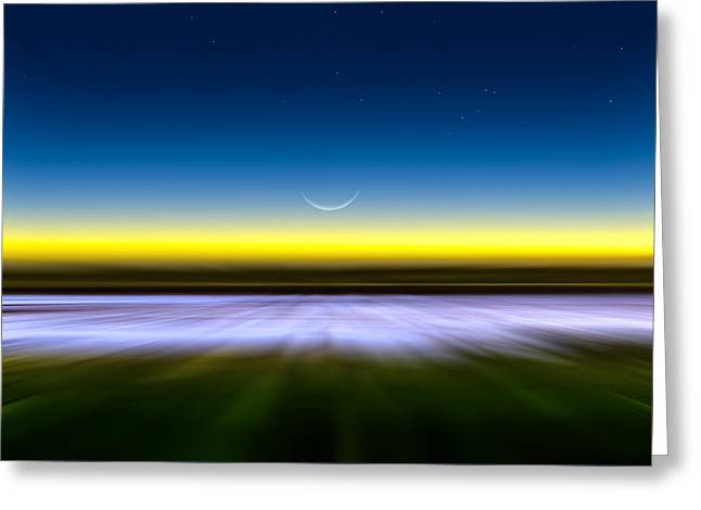 Race For The Night Greeting Card by Mark Andrew Thomas
