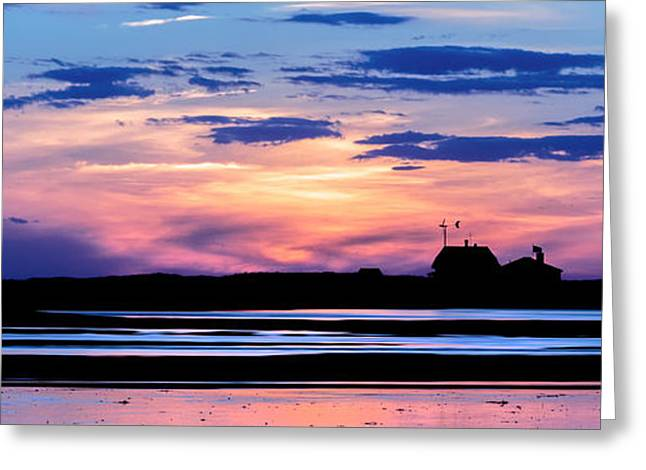 Race Point Lighthouse Silhouette  Greeting Card by Bill Wakeley