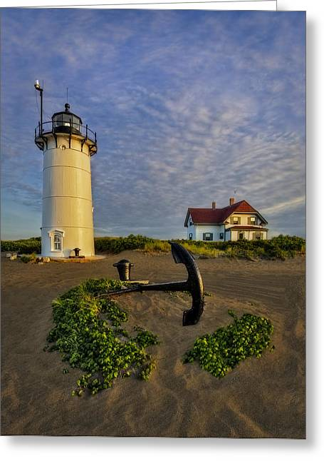 Race Point Lighthouse Greeting Card by Susan Candelario