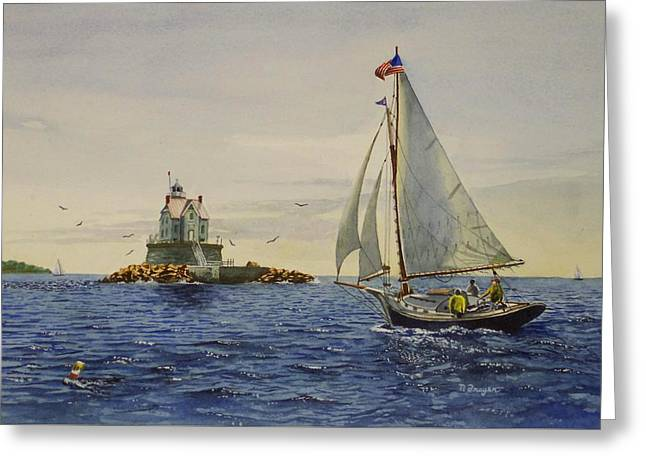 Race Rock Light To The Windward Greeting Card
