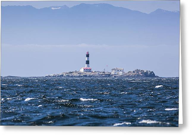 Race Rocks Lighthouse Is Situated Greeting Card by Debra Brash