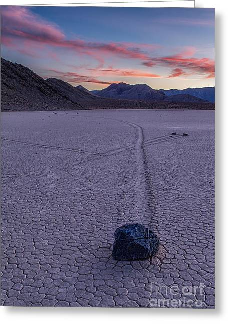Race Track Death Valley Greeting Card by Jerry Fornarotto