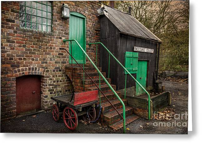 Racecourse Colliery  Greeting Card by Adrian Evans