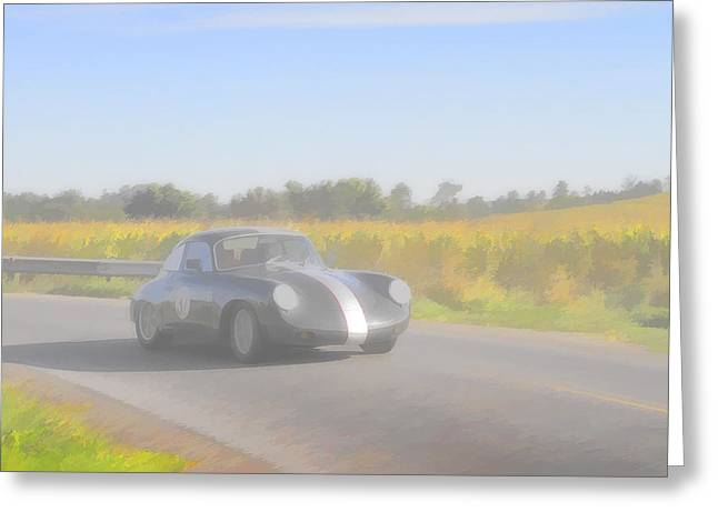 Racer Porsch 356 Greeting Card by Jack R Perry