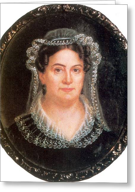 Rachel Jackson, Wife Of Andrew Jackson Greeting Card by Science Source