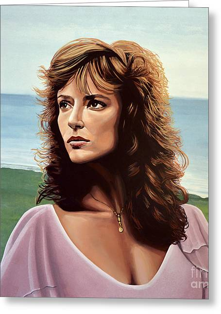 Rachel Ward Greeting Card by Paul Meijering