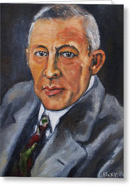Rachmaninov Greeting Card by Becky Kim