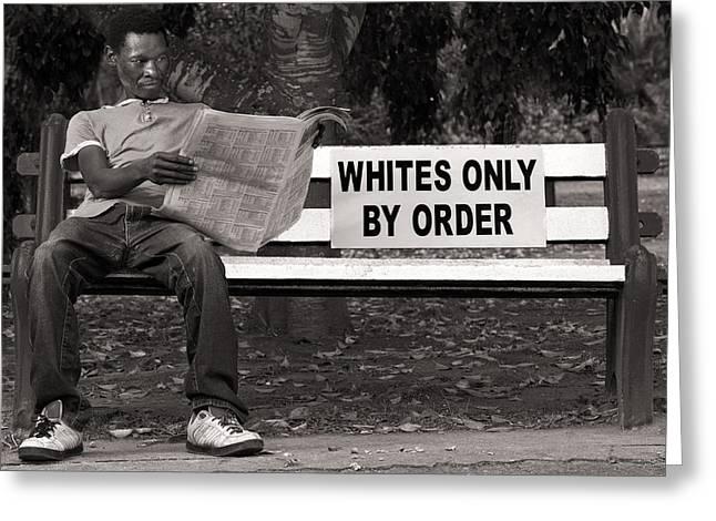 Racial Discrimination Greeting Card by Howard Klaaste