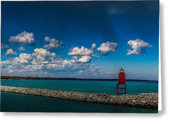Racine Harbor Lighthouse Greeting Card