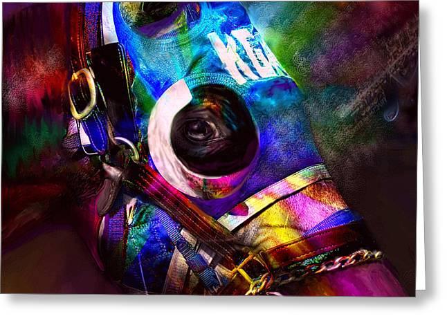 Racing Colors Greeting Card by Kari Nanstad