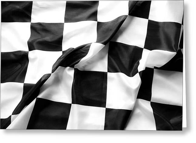 Racing Flag Greeting Card