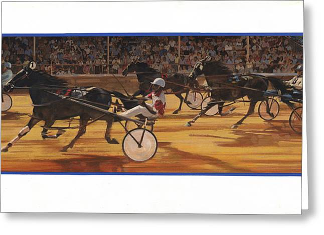 Racing Pacers And Carts Greeting Card