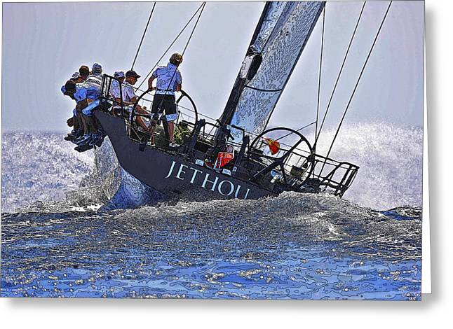 Racing Yacht Greeting Card